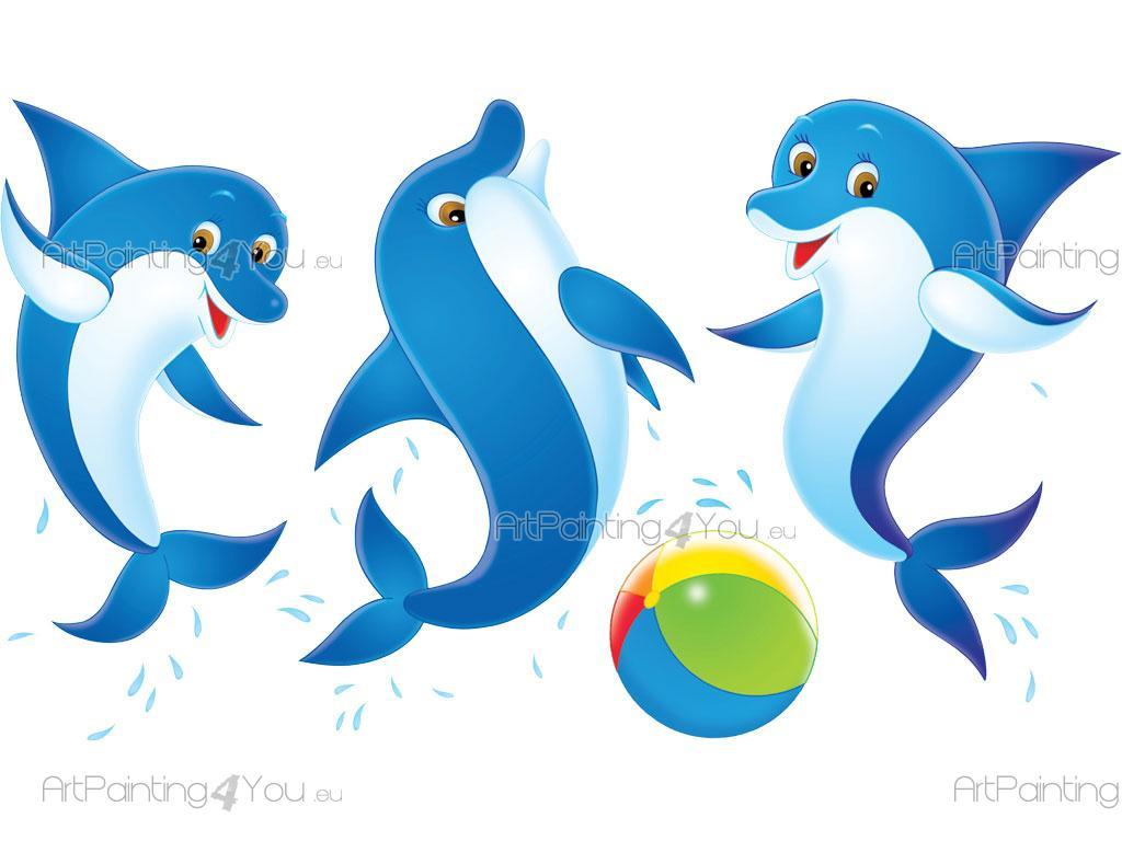Adesivi murali bambini delfini (kit) (999it)