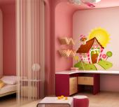 Wall Stickers for Kids - What children or even grown-up wouldn't like to take a bite of a candy house? Decorate a kids room or kitchen using our colourful and repositionable w...