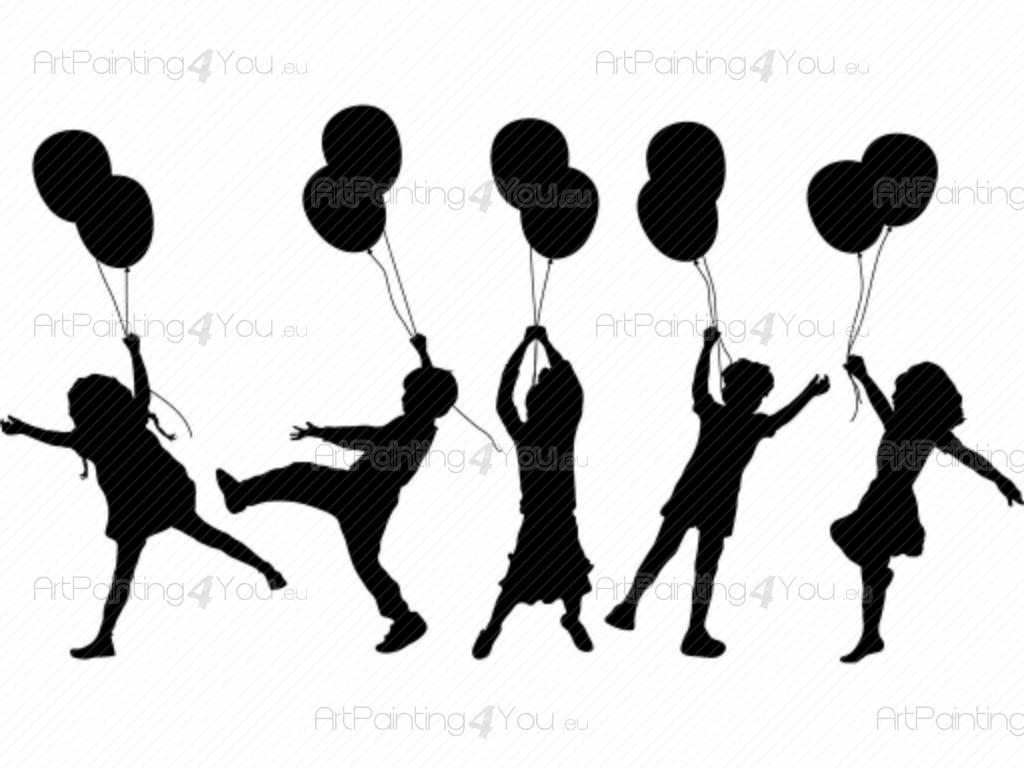 Wall Stickers For Kids Kids Amp Balloons Kit