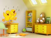Wall Stickers for Kids - Who doesn't adore the sight of a yellow duckling following its mother on the river amidst its brothers and sisters? Give a baby or kid room a pinch of...
