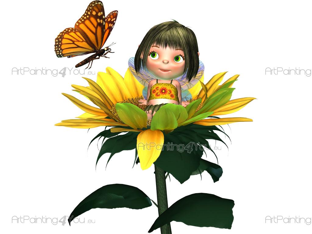 girls wall decals pretty fairy sunflower vdi1042en pretty fairy sunflower girls wall decals