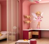 Pretty Fairy - Girls Wall Decals Princesses & Fairies