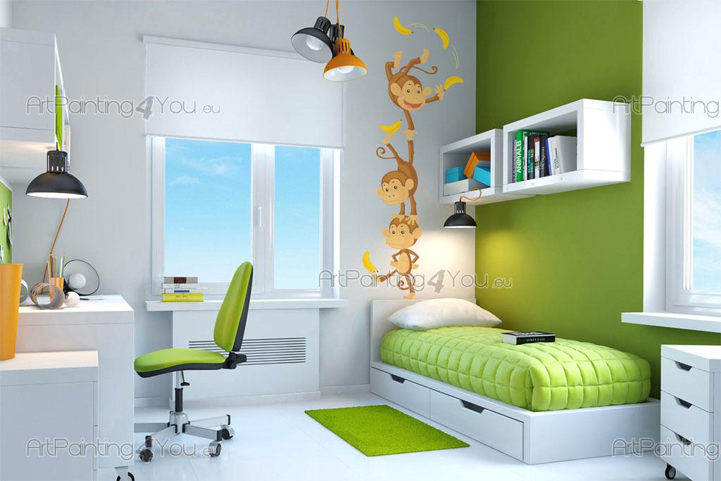 wandtattoo wandsticker kinderzimmer affen dschungel 1165de. Black Bedroom Furniture Sets. Home Design Ideas