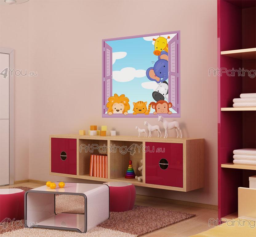 Adesivi murali bambini animali giungla 1233it for Stickers armadi bambini