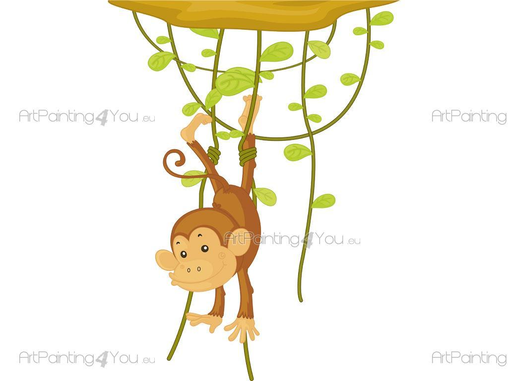 Wandtattoo Kinderzimmer Affen Dschungel | ArtPainting4You.eu ...