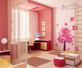 Wall Stickers for Kids - Is your baby or kid a fan of pink, the colour of innocence and sweet love? Decorate the nursery or kids bedroom with this ultrapink set of wall decals...