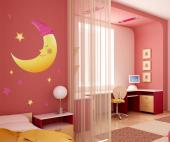 Wall Stickers for Kids - Wall stickers for a good night of sleep! Don't be afraid, the baby and the kids are safe in their rooms thanks to these peaceful decals of a crescent ...
