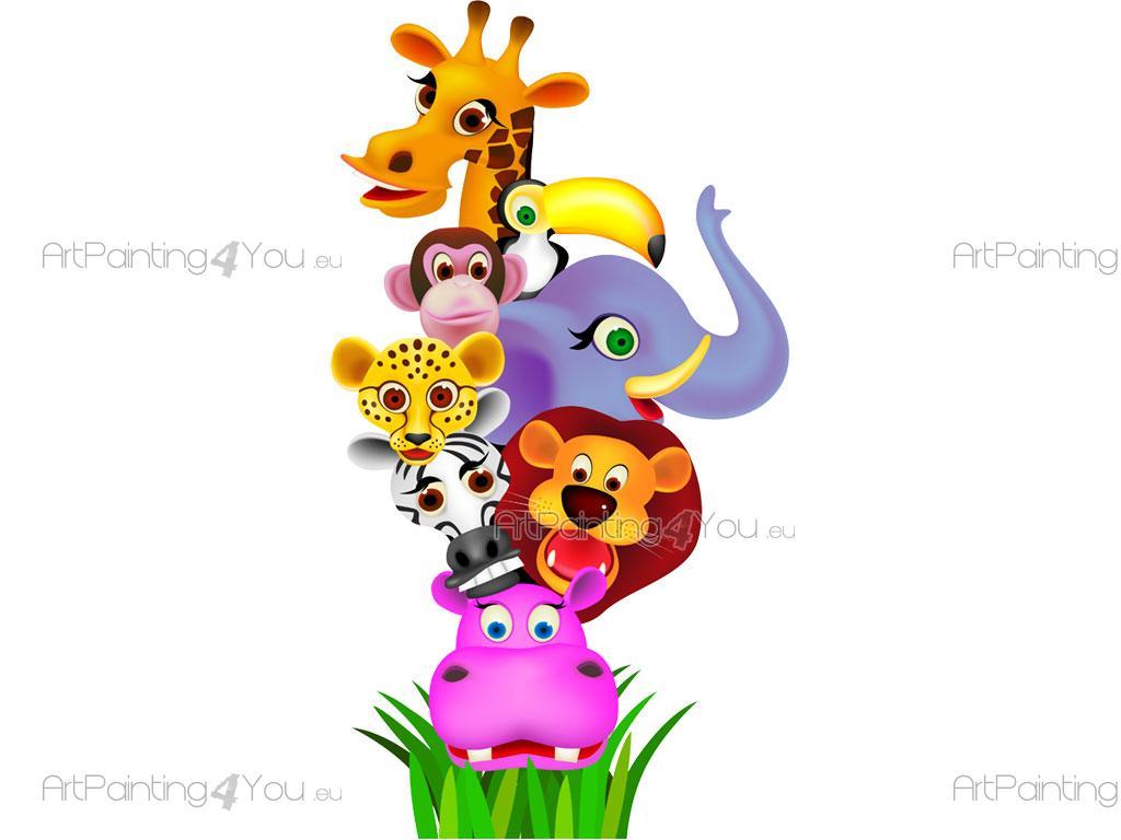 Vinilos infantiles animales selva for Vinilos infantiles animales
