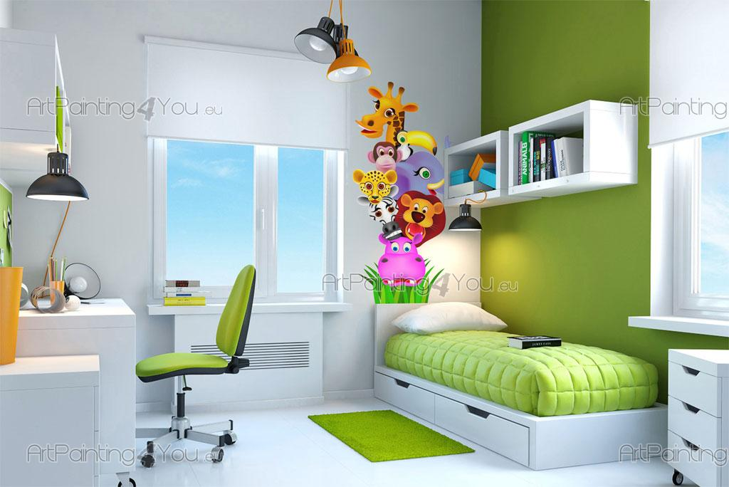 wandtattoo wandsticker kinderzimmer dschungel tiere 1305de. Black Bedroom Furniture Sets. Home Design Ideas