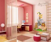 Jungle Wall Stickers for Kids - Transform the baby or kids room into an adorable zoo. Use the wall sticker above to decorate the bedroom and introduce your children to amazing wild a...