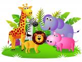 Safari Zoo - Wallstickers Junglen