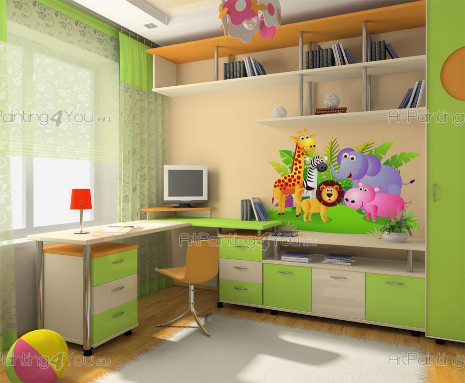 Wandtattoo safari kinderzimmer raum und m beldesign for Kinderzimmer zoo