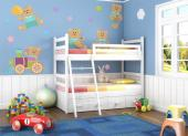 Wall Stickers for Kids - Wall decals for nurseries and baby rooms. Embellish the bedroom of your little boy or girl with a kit of stickers with tender drawings. Apply on a wal...