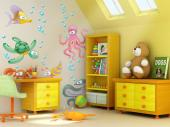 Under the Sea Wall Stickers Nursery - Is your child a fan of everything that is related to the sea? Apply on a wall of the baby or kids room this kit of wall stickers that includes many ai...