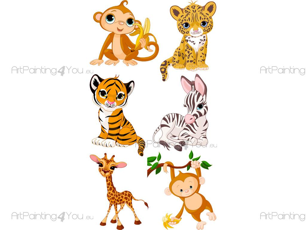 Vinilos infantiles safari animales selva kit vdi1085es - Jungle wandtattoo ...