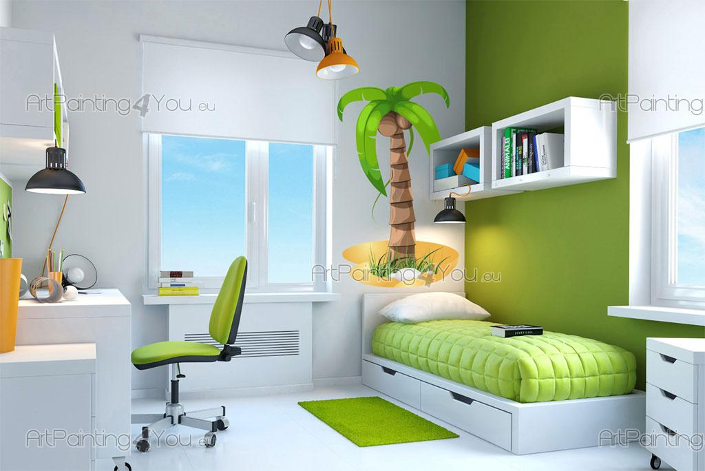 Palmiers arbres stickers muraux chambre b b vdi1086fr - Stickers arbres chambre bebe ...