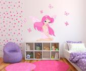 Pretty Fairy (Kit) - Girls Wall Decals Princesses & Fairies