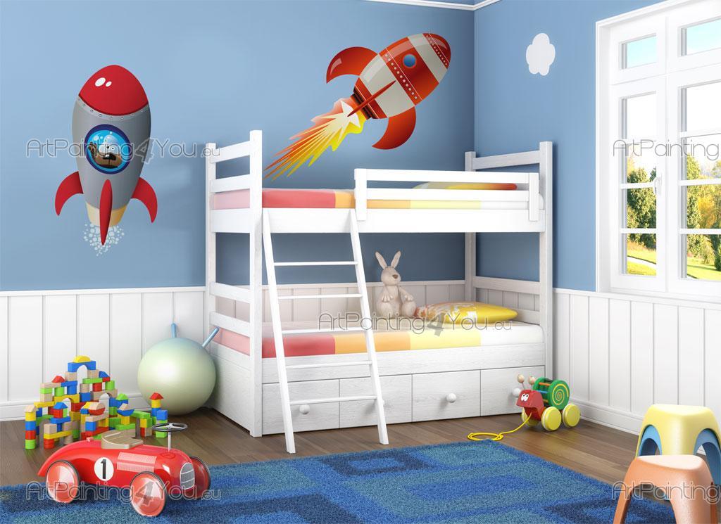 Vinilos infantiles naves espaciales kit for Vinilos dormitorios infantiles