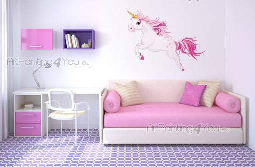 stickers muraux chambre fille licorne. Black Bedroom Furniture Sets. Home Design Ideas