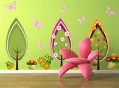 Wall Stickers for Kids - Let your baby or children have a forest in their room thanks to this kit of wall stickers designed especially for kids. Admire the dotted mushrooms, t...
