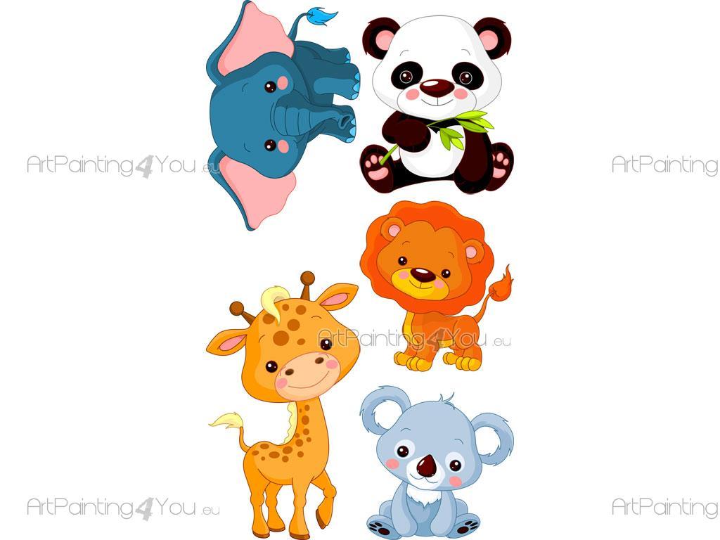 Vinilos infantiles safari animales selva kit 1502es - Fotos de animales infantiles ...