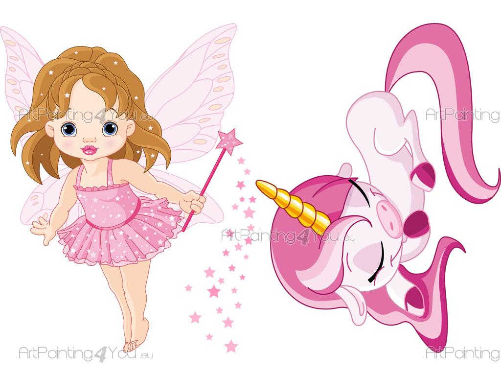 vinilos bebe ni u00f1a hadas   unicornio  kit  artpainting4you eu u00ae  vdi1116es clipart of girl gingerbread clip art of girls praying