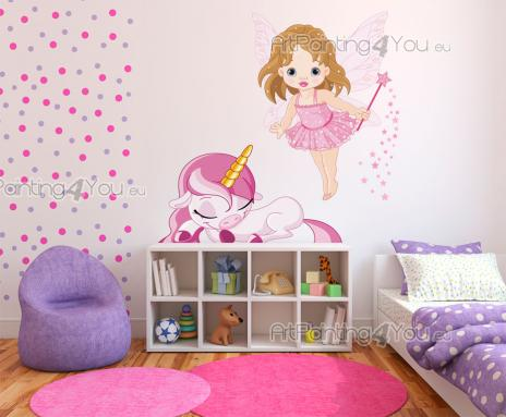 Girls Wall Stickers Princesses & Fairies - Original wall decals for the rooms of babies and kids. Stimulate their imagination with stickers of mythical beings that will cheer up the decor! This...