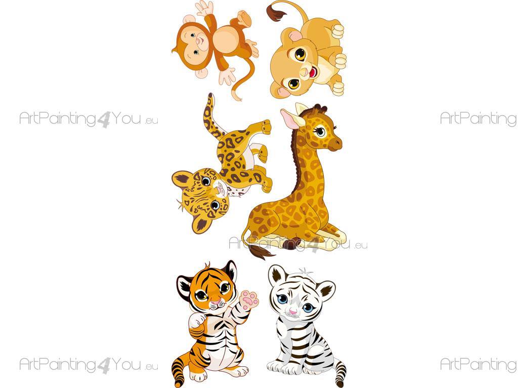 Wandtattoo Kinderzimmer Safari Tiere Dschungel Kit Vdi1117de