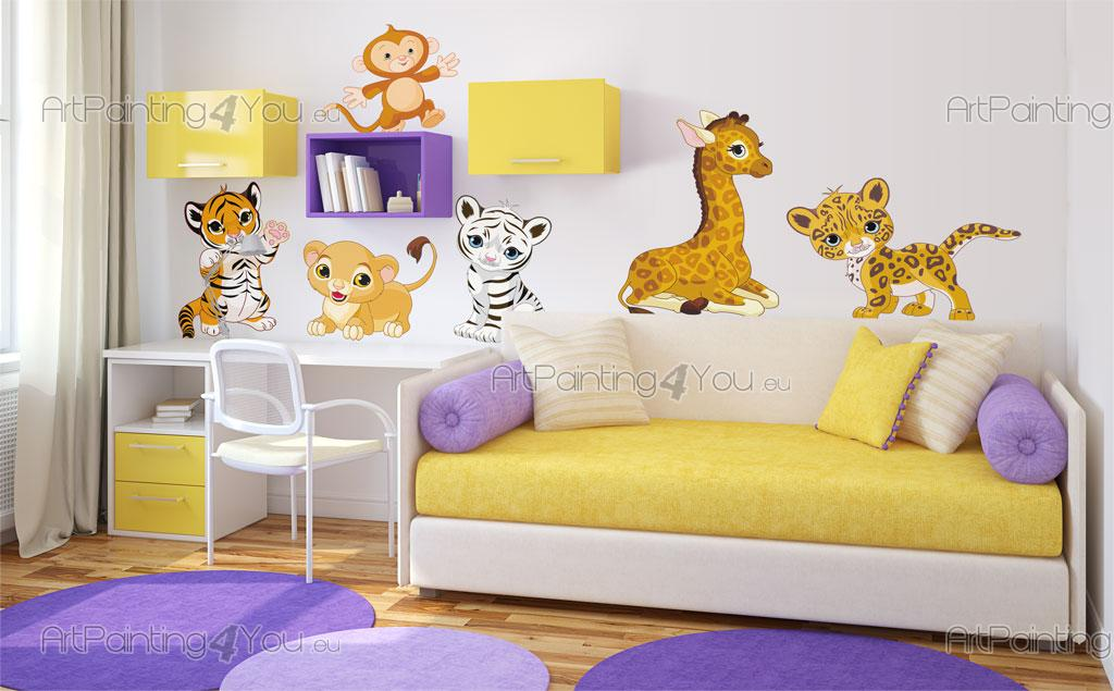 Stickers chambre b b safari animaux jungle kit 1504fr - Stickers jungle chambre bebe ...