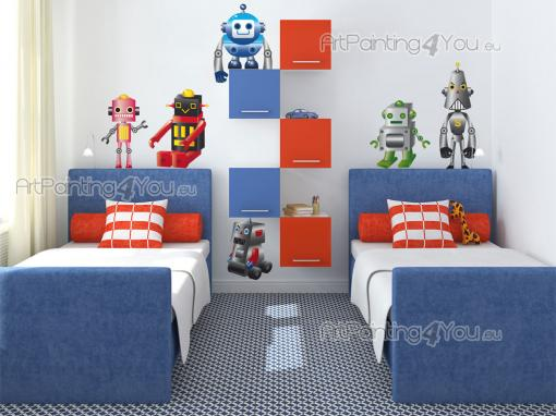 Wall Stickers for Kids - There are so many different kinds of machines out there! Some are even provided with some sort of artificial intelligence! If your kid loves technolog...