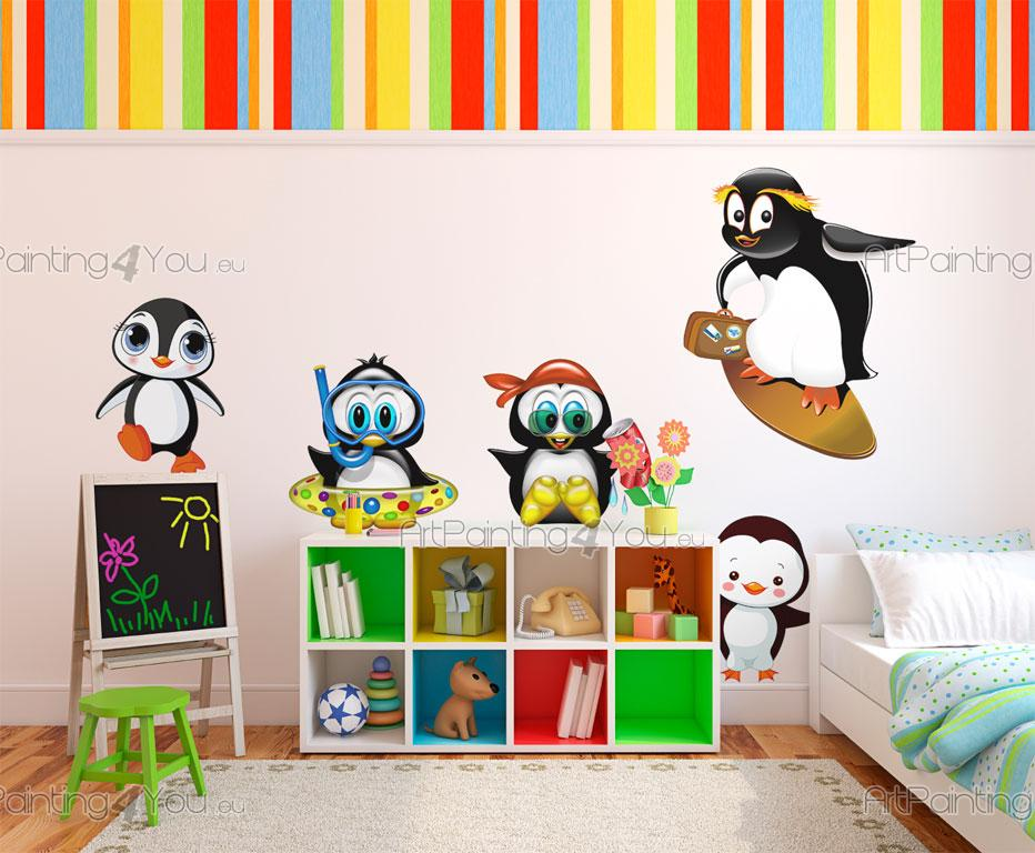 Adesivi murali bambini pinguini kit 1507it for Adesivi murali x bambini