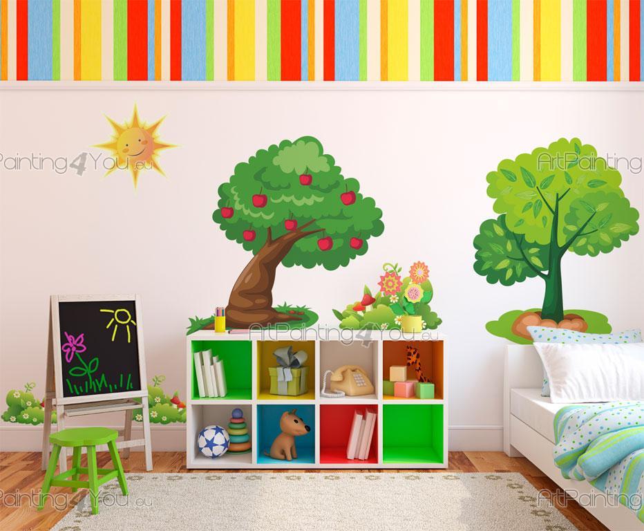 Adesivi murali bambini alberi kit for Adesivi murali x bambini
