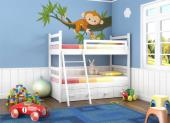 Jungle Wall Stickers for Kids - Not every monkey is loud and naughty. Some of them, like the one we present you here, are kind and even generous. Place on a wall of an animal-loving ...