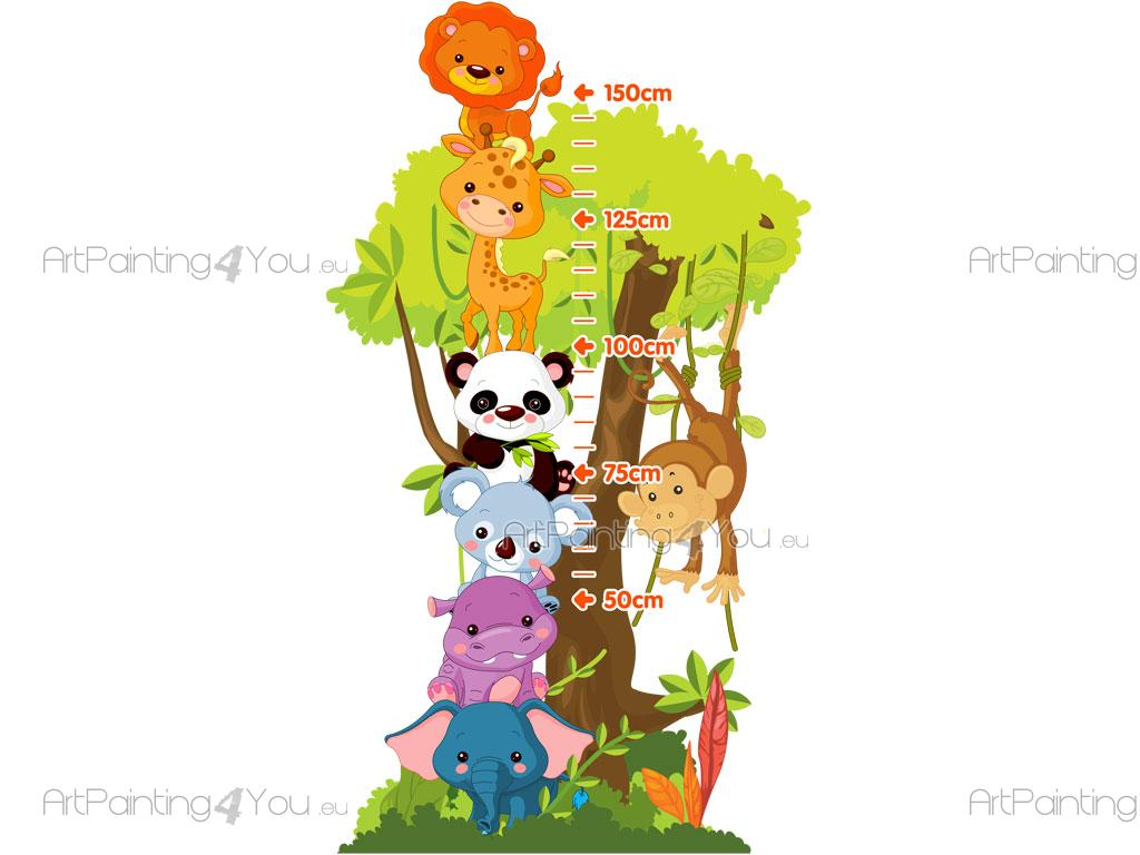 Wandtattoo wandsticker kinderzimmer messlatte dschungel tiere 1515de - Jungle wandtattoo ...