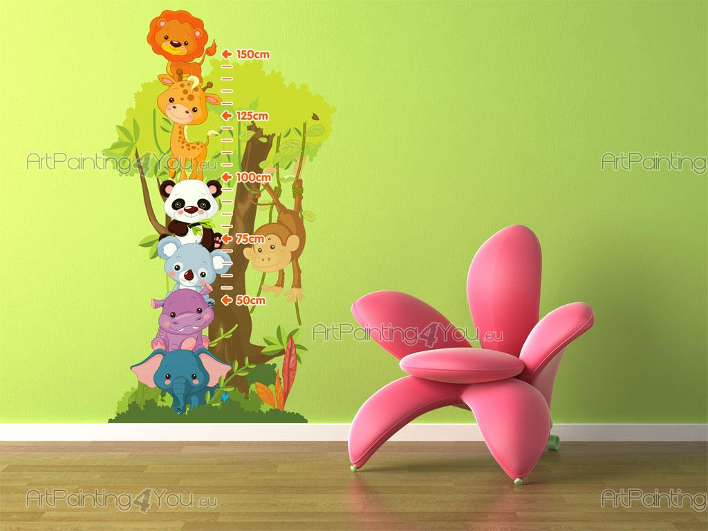 Stickers chambre b b m tre animaux jungle 1515fr - Stickers jungle chambre bebe ...