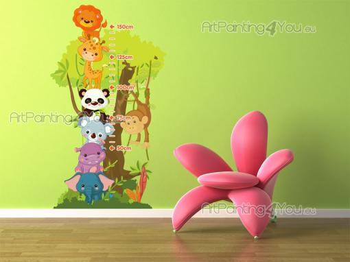 Stickers chambre b b m tre animaux jungle 1515fr - Stickers chambre bebe jungle ...