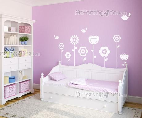 Stickers murali bambini fiore kit - Bordi adesivi per camerette ...