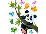 Jungle Wall Stickers for Kids - Wall decals for baby and kids rooms. Celebrate your child's respect for wildlife with cute animal stickers, like these of a panda bear cub playing on ...