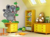 Jungle Wall Stickers for Kids - Wildlife wall decals! Koalas are fluffy, endearing creatures everybody loves. Give a touch of tenderness to the baby or kid's room with these wall sti...
