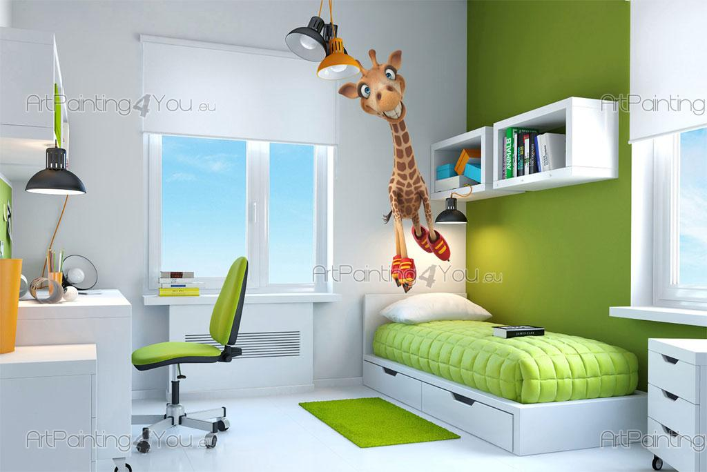 Muursticker Giraffe Kinderkamer.Muurstickers Babykamer Giraffe Artpainting4you Eu Vdi1144nl