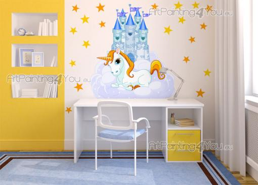 Girls Wall Stickers Princesses & Fairies - Meet new worlds thanks to fairy tales! Take a trip with the kids to an enchanted castle on the clouds with pointy, blue pinnacles, guarded by a wise w...