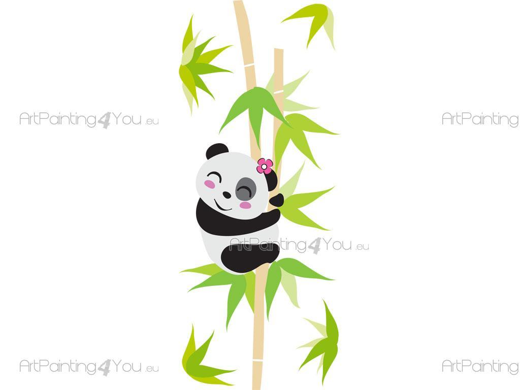 Adesivi murali bambini orso panda (1968it)