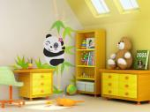 Pandabeer - Muurstickers Jungle Babykamer