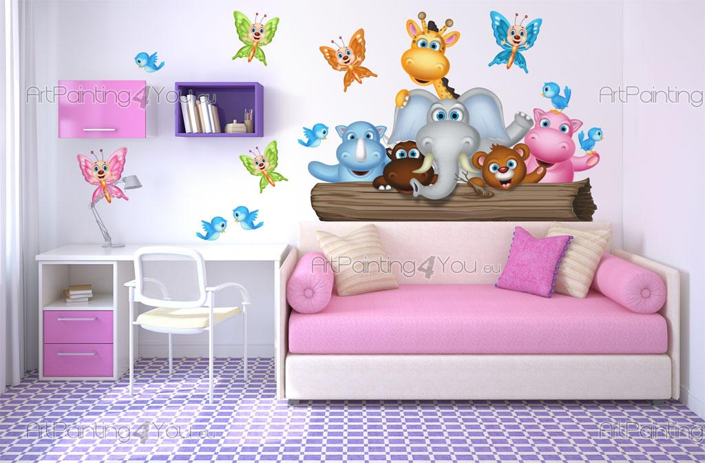 Stickers chambre b b animaux jungle 1979fr - Stickers jungle chambre bebe ...