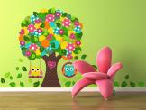 Wall Stickers for Kids - Vivify the nursery or the room of a baby or kid with these wall decals. Take a look at this patchwork-inspired tree with a crown made of dozens of col...