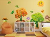 Wall Stickers for Kids - Stimulate the children's imagination with woods made of stickers. Decorate the baby or kids room with this kit of wall decals containing a couple of t...
