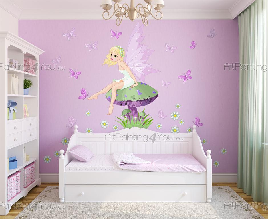 Muurstickers babykamer kinderkamer fee n vlinders kit for Chambre unicorn