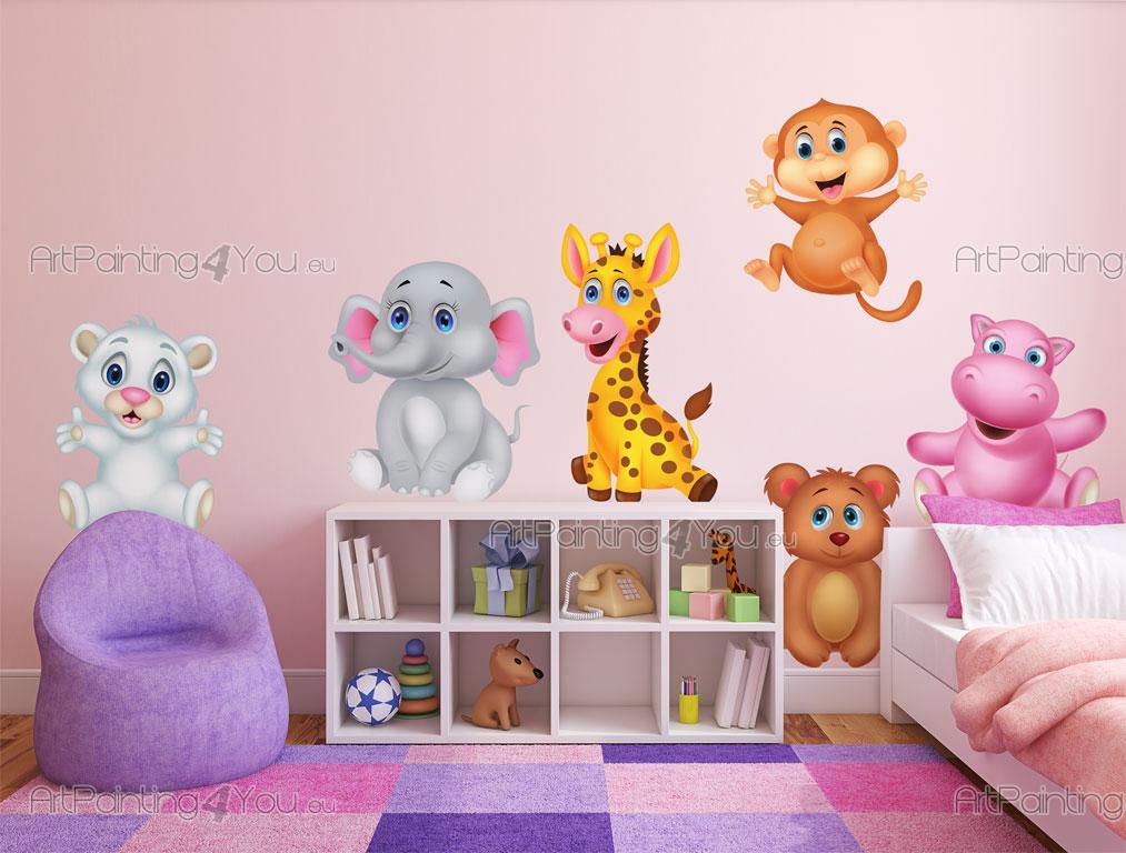 Stickers Muraux Jungle Chambre Bébé   Ouvrez Un Zoo Tendre Dans La Chambre  Des Bébés Ou