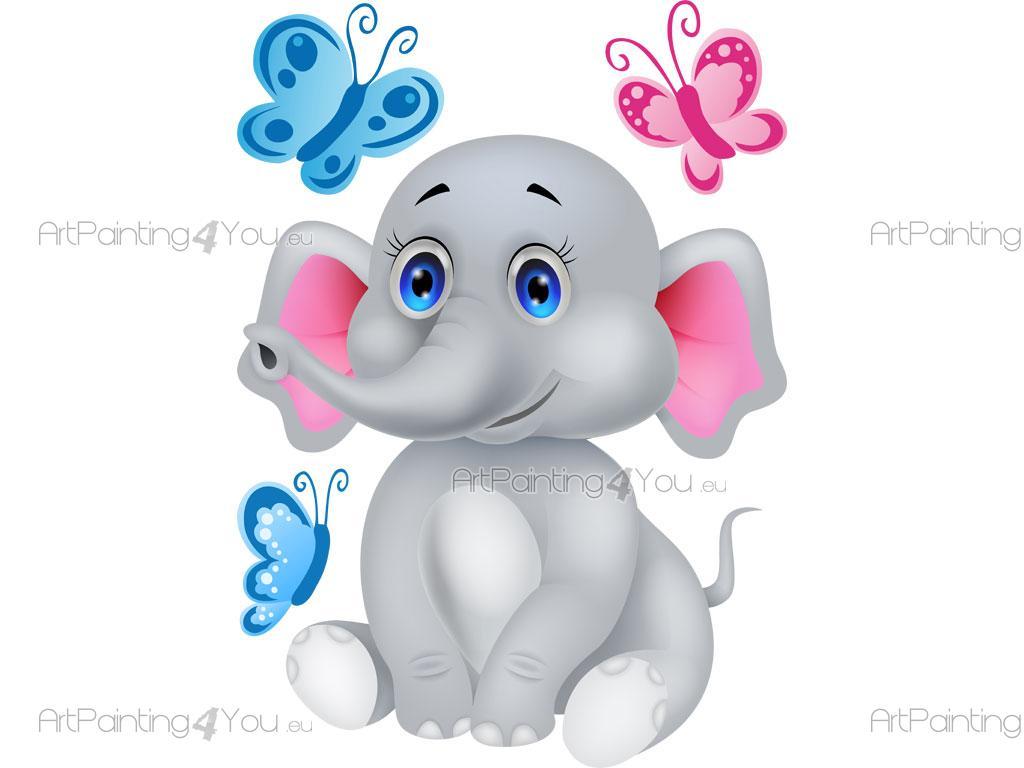 Wandtattoo Kinderzimmer Elefant (VDI1169de)   ArtPainting4You.eu
