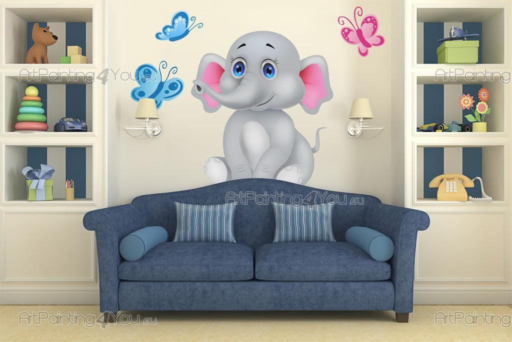 wandtattoo wandsticker kinderzimmer elefant 1995de. Black Bedroom Furniture Sets. Home Design Ideas